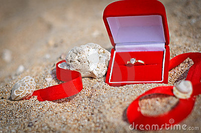 Propose at the beach