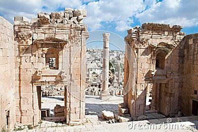Propylaea - Artemis Temple .Jerash