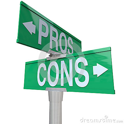 Free Pros And Cons Two-Way Street Signs Comparing Options Royalty Free Stock Photo - 31863725