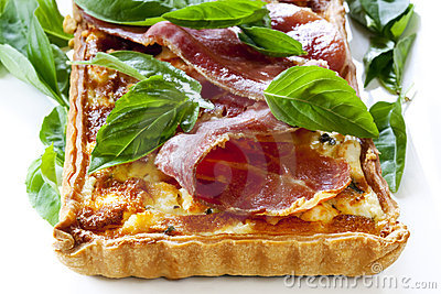 Prosciutto and Basil Quiche