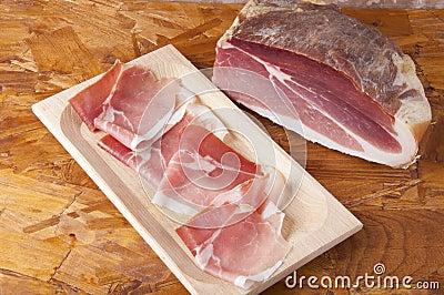 Prosciutto curato porco