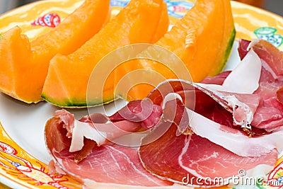 Prosciutto di Parma ham and Melon