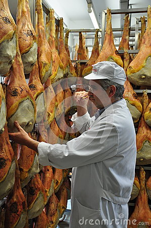 Free Prosciutto Di San Daniele - Cured Ham Production Stock Photo - 98188730