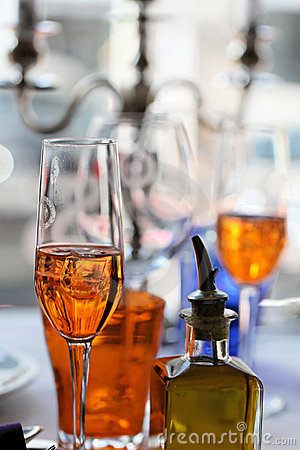 Prosecco and Aperol Spritz