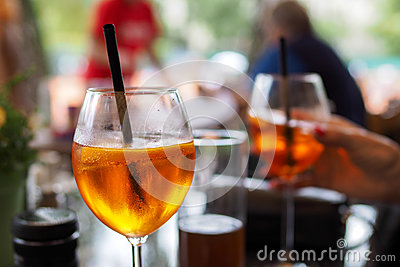Prosecco wine and aperol