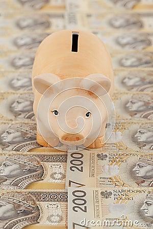 Prosiątko z pieniądze