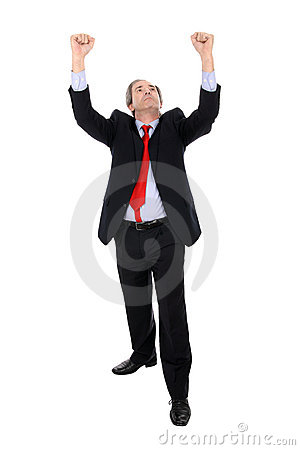 Prosper business man gesturing with his arms