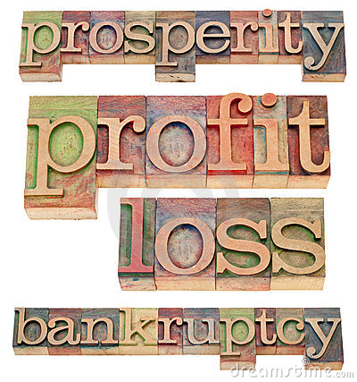 Prosperity and bankruptcy