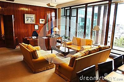 Prospettiva della sala del consiglio