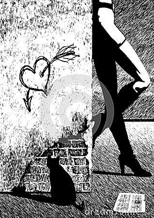 Resultado de imagem para ilustração prostitutas