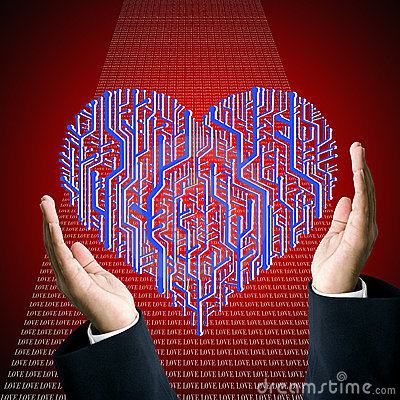Protect the circuit board in heart shape