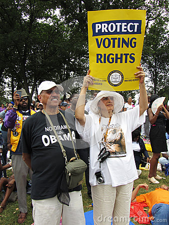 Protect Voting Rights Editorial Stock Photo
