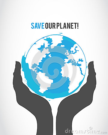 Protect the world concept