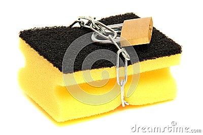 Protected sponge