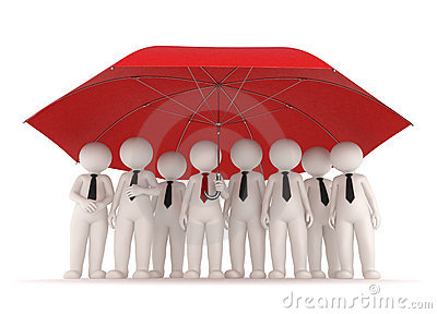 Protection - 3d business people