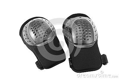 Protection of knees for snowboarding