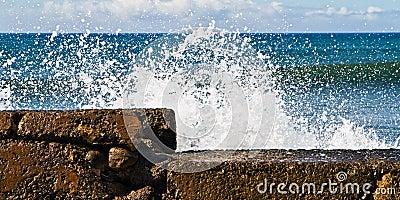 Protective sea wall