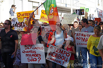 Protest against austerity - Loule Editorial Image