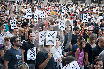 Protest against government cuts, Porto Editorial Photo
