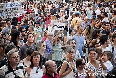 Protest against government cuts, Porto Editorial Image