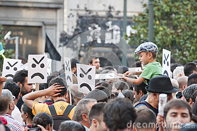 Protest against government cuts, Porto Editorial Photography