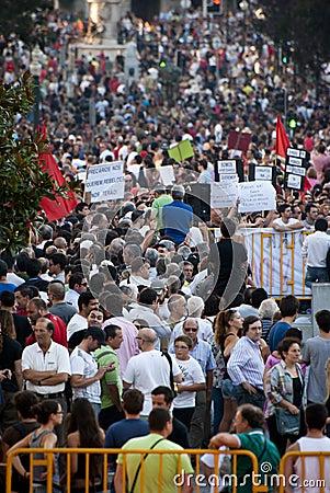 Protest against government cuts, Porto Editorial Photo
