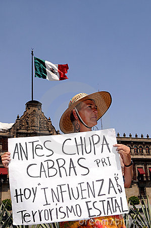 Protest against Mexican government Editorial Stock Photo