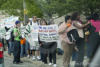 Protest against the new law of illegal immigrants Editorial Image