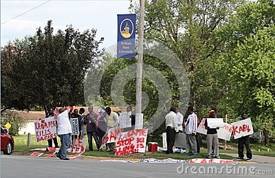 Protest against Rwandan President Kagame Editorial Image