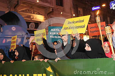 Protest anti İslam Film Editorial Photography