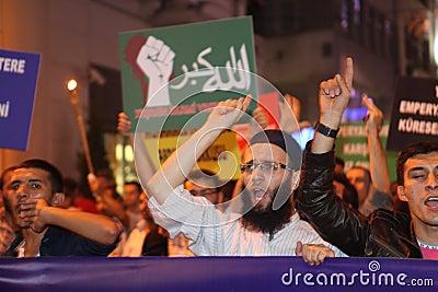 Protest anti İslam Film Editorial Photo
