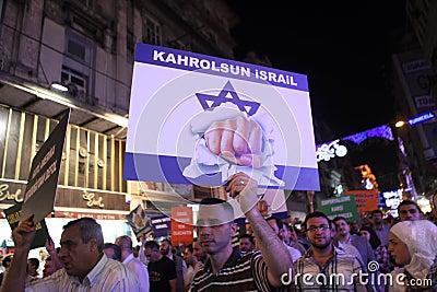 Protest anti İslam Film Editorial Image