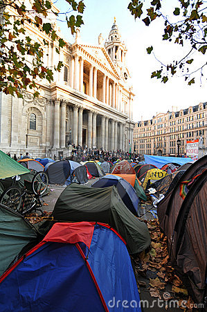 Protest camp Editorial Stock Image