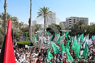 Protest in gaza Editorial Stock Photo
