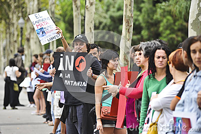 Protest Japan Taiji fishermen dolphin Editorial Image