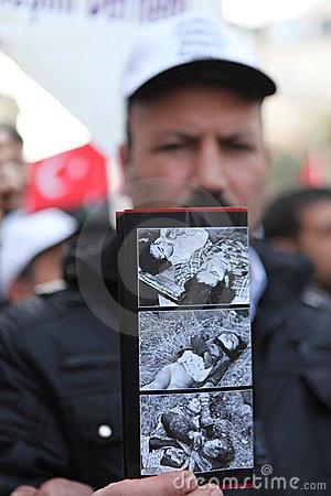 Protest Khojaly Massacre Editorial Stock Image
