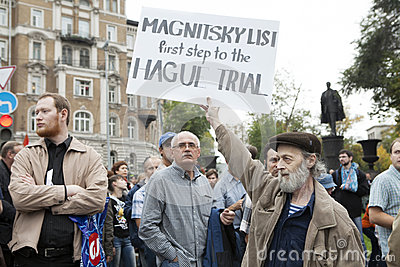 Protest in Moscow 15 September 2012 Editorial Photo