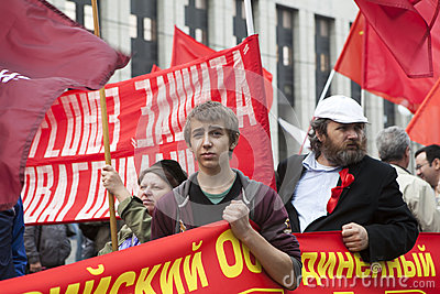 Protest in Moscow 15 September 2012 Editorial Stock Image