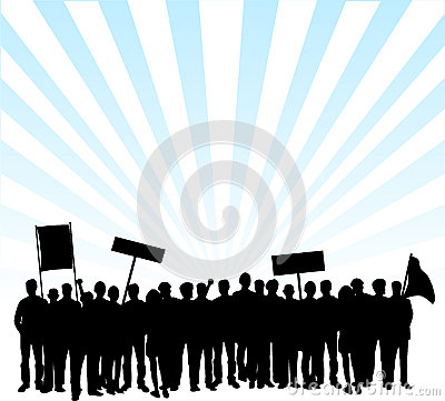 Free Protest On The Streets Stock Photography - 6708092