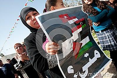 Protest in Palestine Editorial Stock Photo