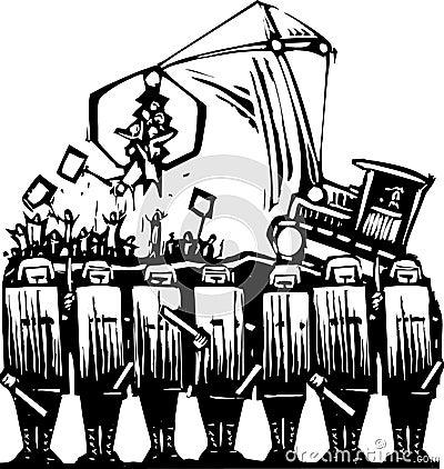Protest-Polizei