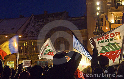 Protest in Romania Editorial Photo