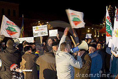 Protest in Romania Editorial Stock Image