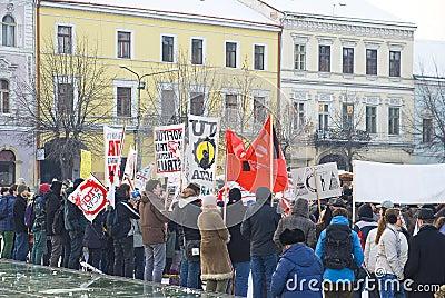 Protest in Romania against ACTA Editorial Image
