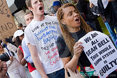 Protest for Sean Bell Editorial Stock Image