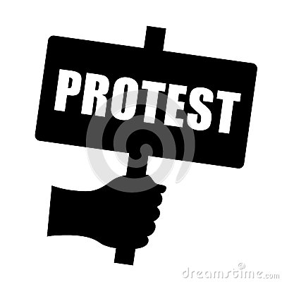 Protest Sign Royalty Free Stock Photo - Image: 34881665