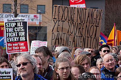 Protest at UK LibDem Conference; anger! Editorial Photography