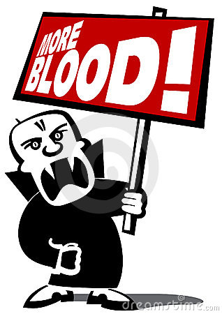 Free Protest Vampire Man Royalty Free Stock Photos - 5066968