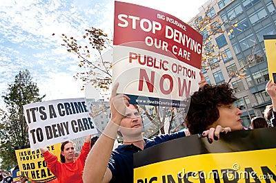 Protesta del cuidado médico Foto de archivo editorial