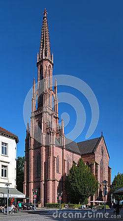 Protestant Church in Offenburg, Germany Editorial Stock Image